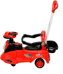 Toyshine Caliber Magic Car, Ride-on Toy with Parent Control Rod, Red