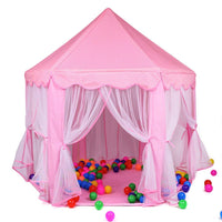 Toyshine Big Princes Castle Tent House for Kids, Pink (Balls not Included)