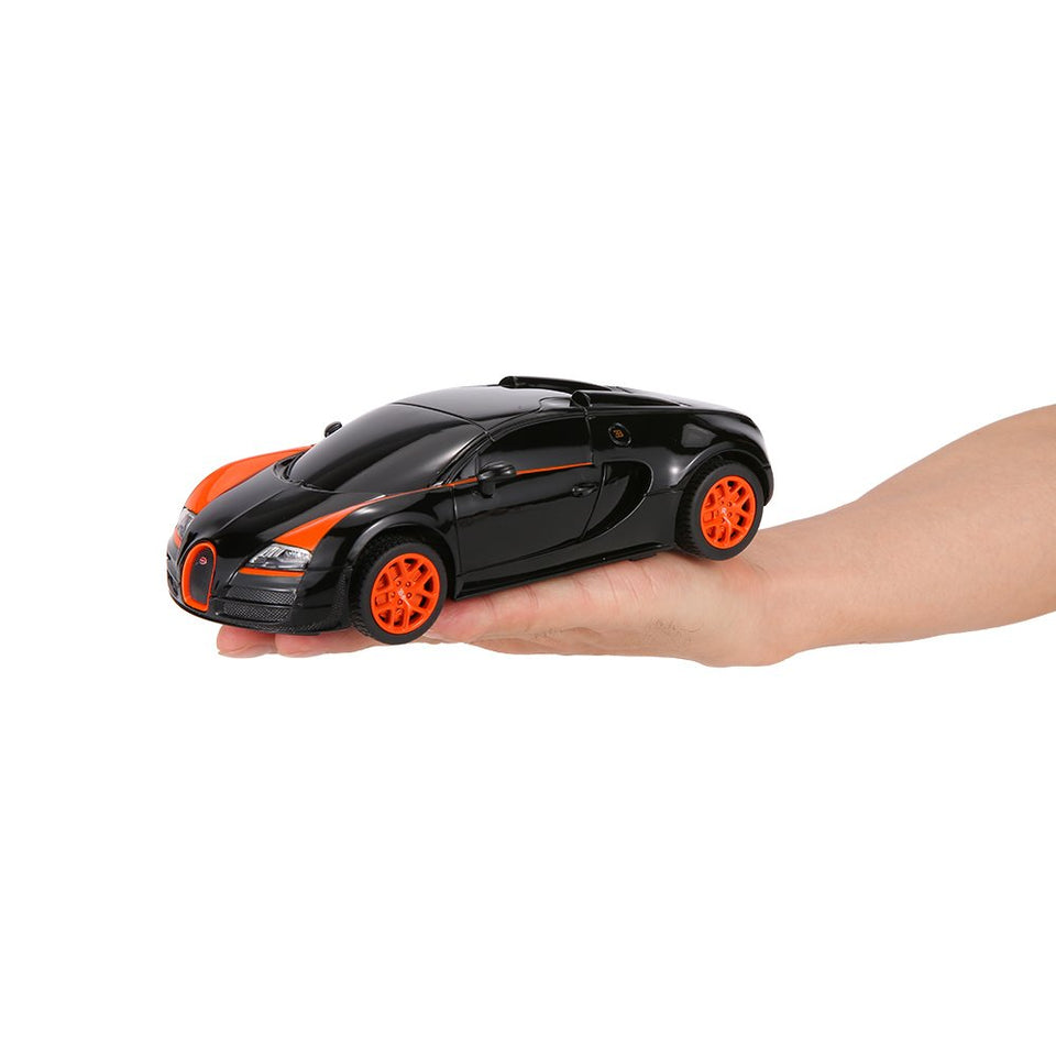 Rastar 1:24 Bugatti Grand Sport Vitesse Remote Control Car, with Lights, Black