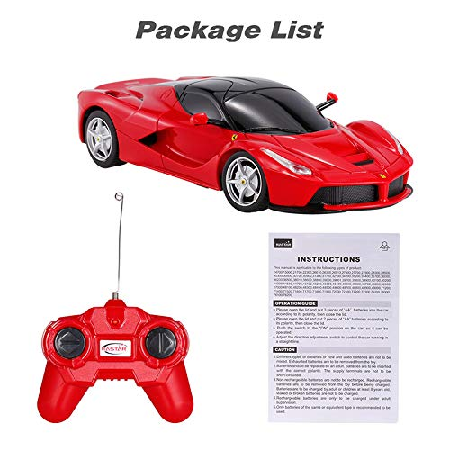 Rastar 1:24 Ferrari LaFerrari Remote Control Car with Lights (Red)