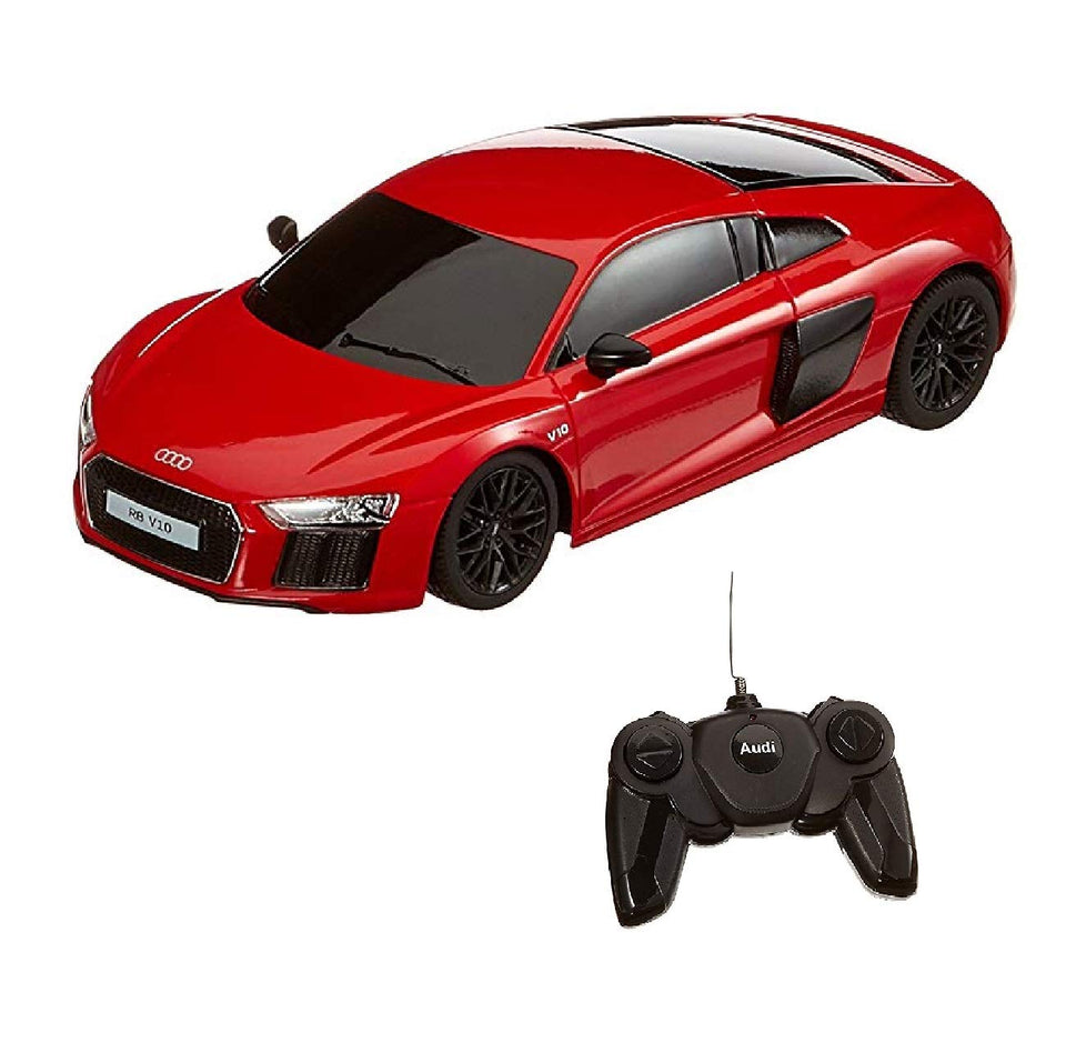 Rastar 1:24 Audi R8 2015 Version Remote Control Car, with Lights, Red