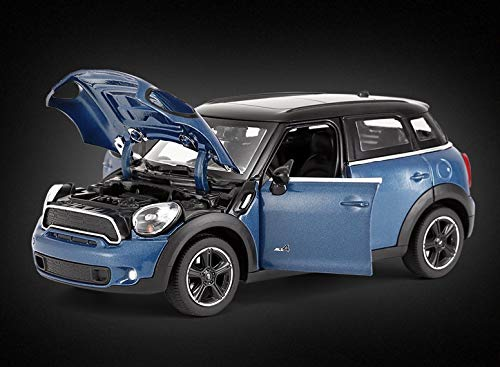 Rastar 1:24 Diecast Mini Countryman with Opening Doors and Detailed Interior and Exterior, Blue