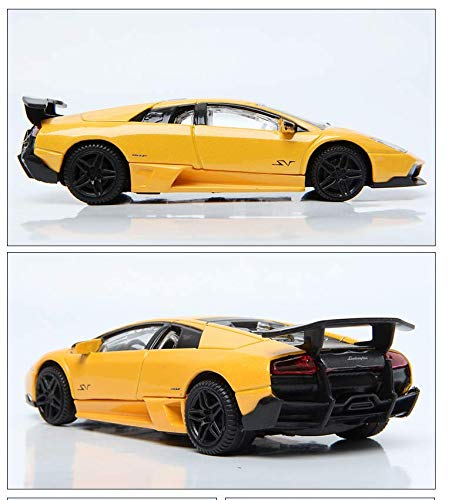 Rastar 1:43 Lamborghini Murcielago Car Model with Detailed Exterior, Yellow
