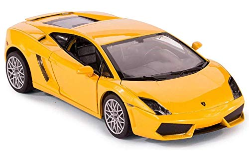Rastar 1:40 Diecast Lamborghini Gallardo Car Model with Detailed Exterior, Yellow