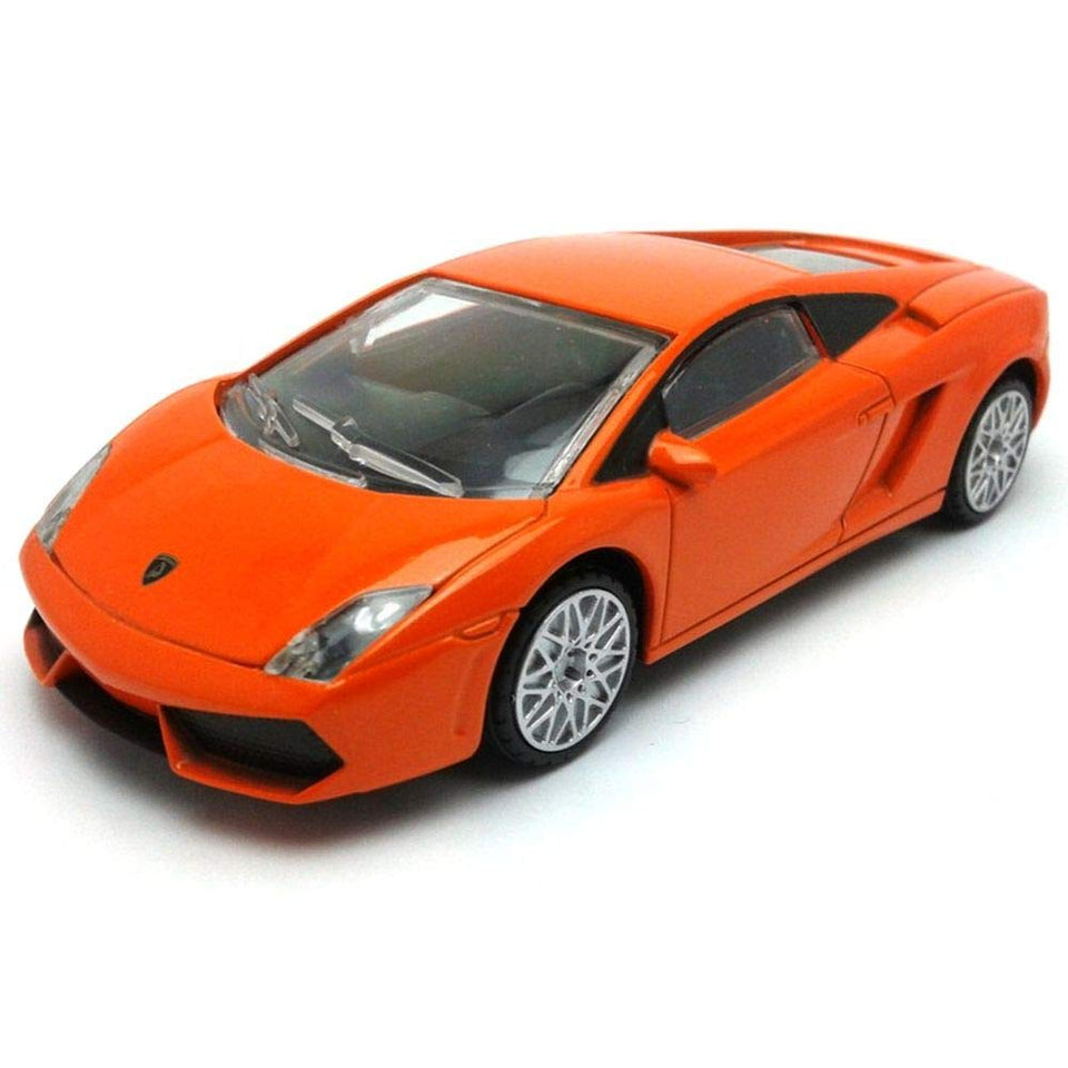 Rastar 1:40 Diecast Lamborghini Gallardo Car Model with Detailed Exterior, Orange