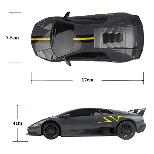 Rastar 1:24 Lamborghini Remote Control Car, with Lights, Grey