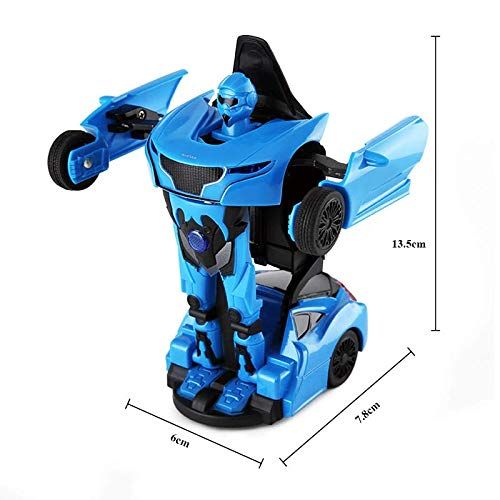 Rastar 1:32 Transformable Car with Lights and Sound, Blue