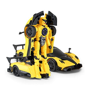Rastar 1:32 Pagani X Zonda Transformable Car with Lights and Sound, Yellow