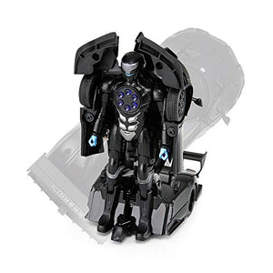 Rastar 1:32 Transformable Car with Lights and Sound, Black