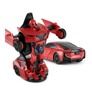 Rastar 1:32 Transformable Car with Lights and Sound, Red