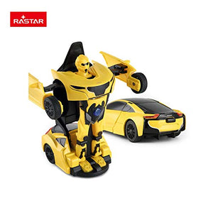 Rastar 1:32 Transformable Car with Lights and Sound, Yellow