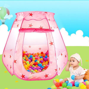 Toyshine Foldable Kids Children's Ball Pit Indoor Outdoor Pop Up Play Tent House Toy, Pink (Balls NOT Included)