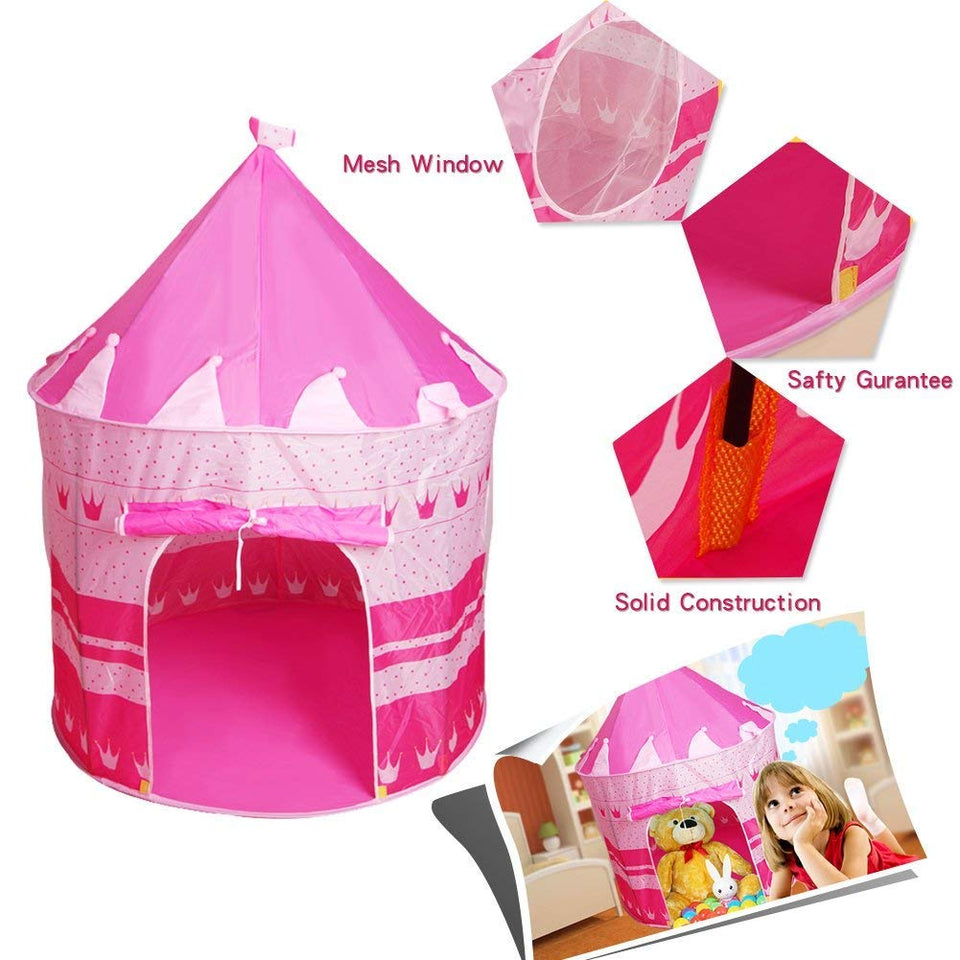 Toyshine Kids Playhouse Castle Tent with Portable Carry Bag for Indoor/Outdoor