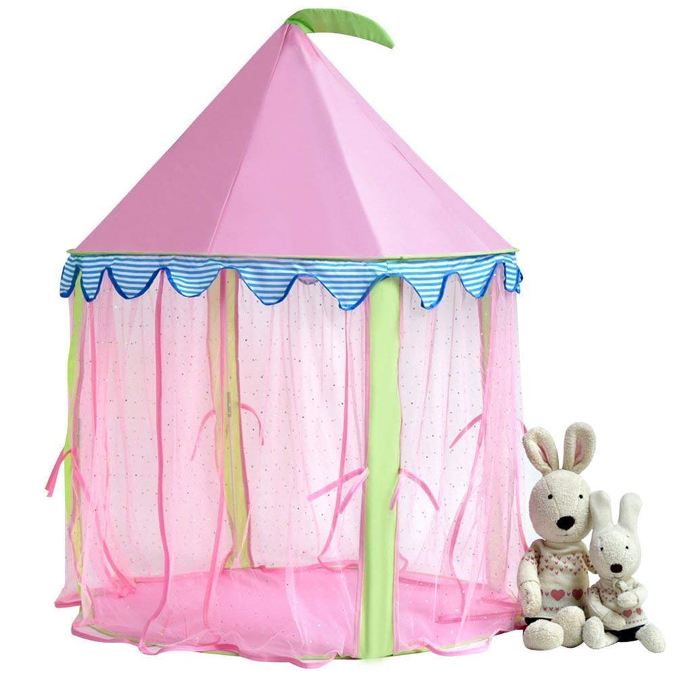 Toyshine Princes Playhouse Castle Pop-up Tent House for Kids (Pink)