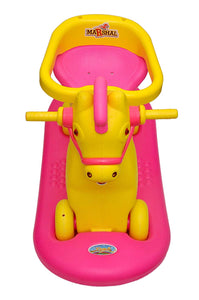 Toyshine 2 in 1 Marshal Horse Rocker Cum Ride-on Horse Rocking Toy, ABS Plastic, 2-5 Years, Pink