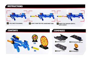 Toyshine Foam Blaster Gun Toy, Safe and Long Range