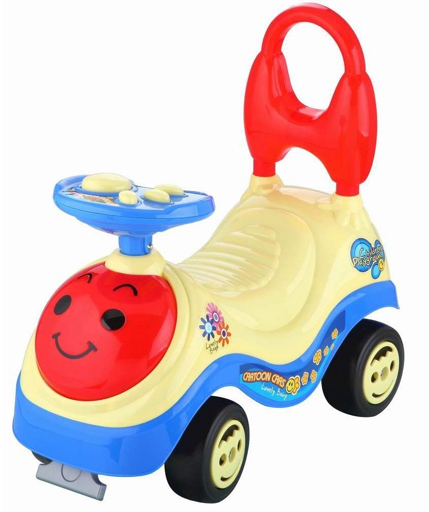 Toyshine Smiley Face Ride-on Toy with Music, 1.5-3 Years, Assorted Design