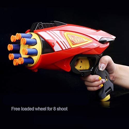 Toyshine Auto Reload Gizmo Foam Blaster Gun Toy, Safe and Long Range, 20 Bullets