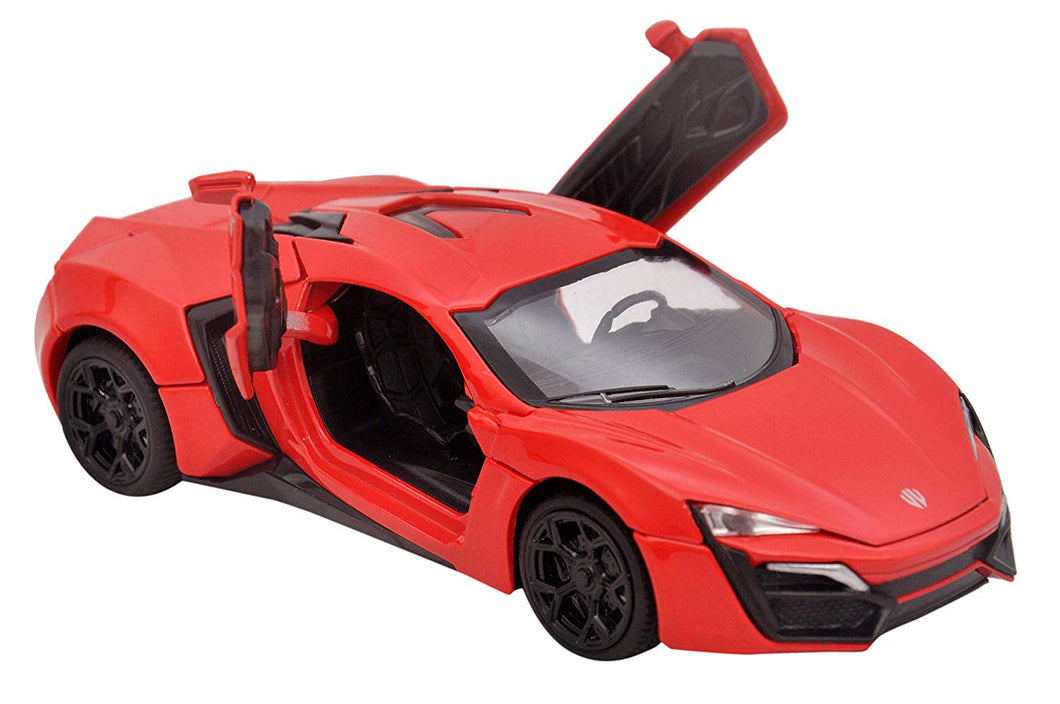 Toyshine 1:32 Metal Lyka Hypersport Diecast Car, Opening Doors, Vehicle Toy Car, 6 Inches, Music and Lights, Assorted Color