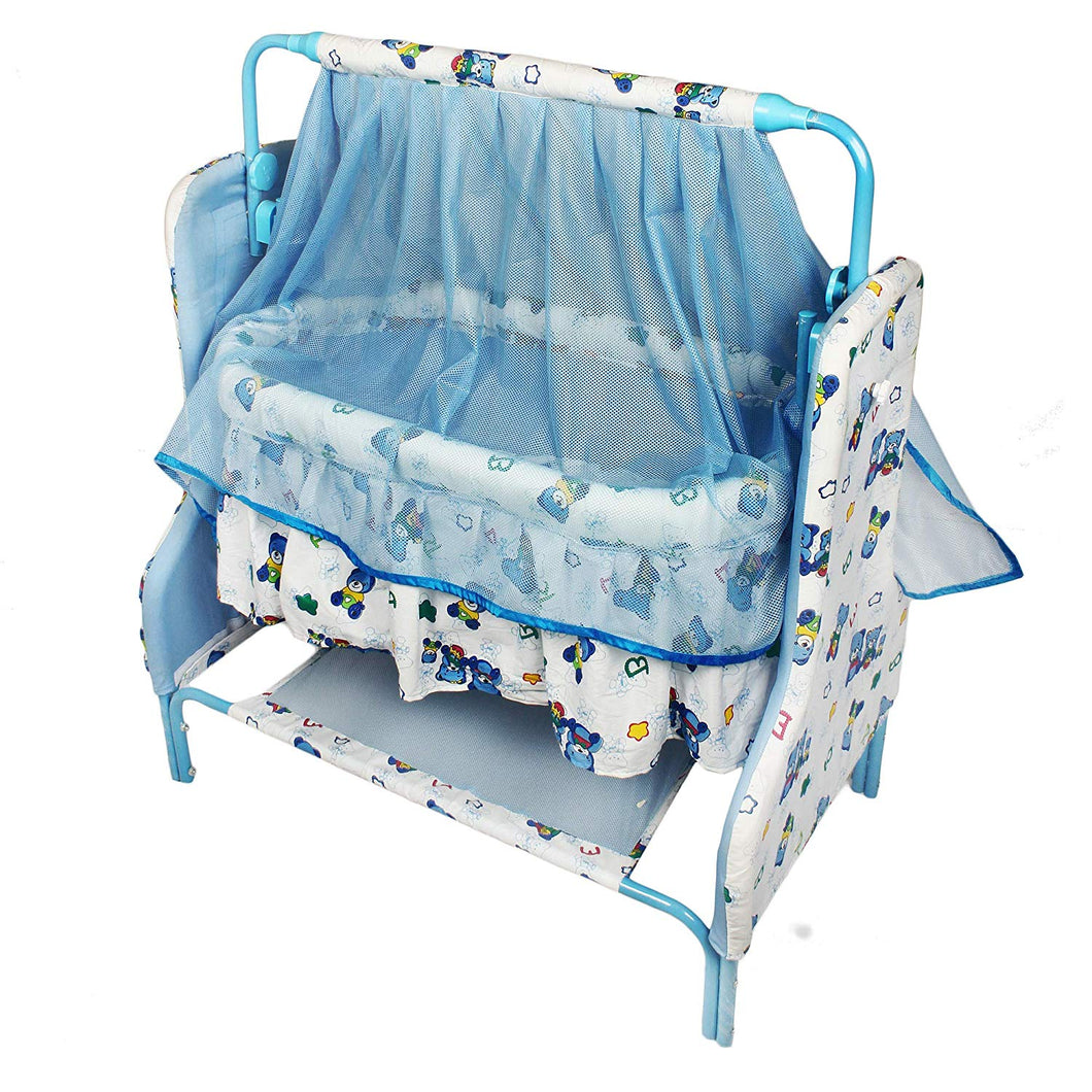 Toyshine U Jumbo Baby Craddle Cot Crib with Rocking Function, Assorted Color