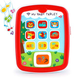 Toyshine My Baby Tablet Mobile Tab with Music Lights ABC Numbers Colors Learning Interactive Toy