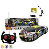Toyshine 1:18 Graffiti Rechargeable Remote Control Rechargeble Car wtih 4 Function, Model 3, Assorted Design
