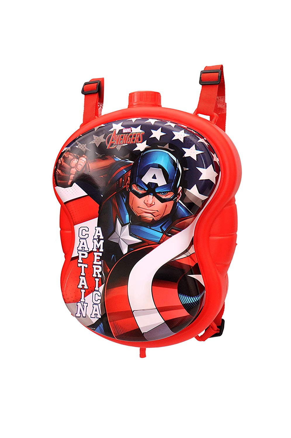 Toyshine Captain America Holi Water Gun with High Pressure, Back Holding Tank, 3.0 L, Red