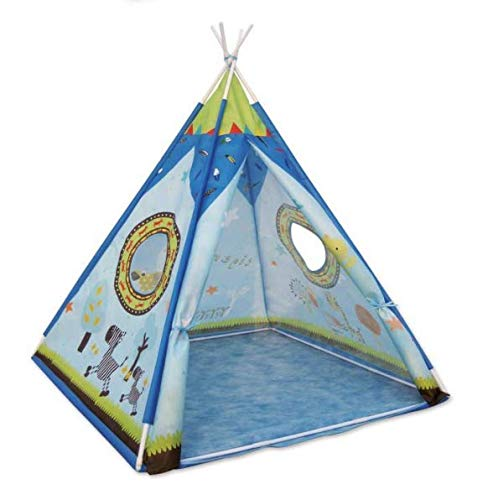 Toyshine Lightweight Folding Kids Indian Teepee Tent Play House Indoor Outdoor Garden Beach Toys - Multicolor