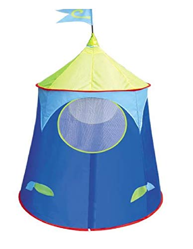 Toyshine Space Castle Tent House with Portable Carry Bag for Indoor/Outdoor Ball Pitt Playhouse, Blue