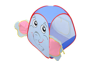 Toyshine Elephant Face Foldable Ball Pit Indoor Outdoor Pop Up Play Tent House