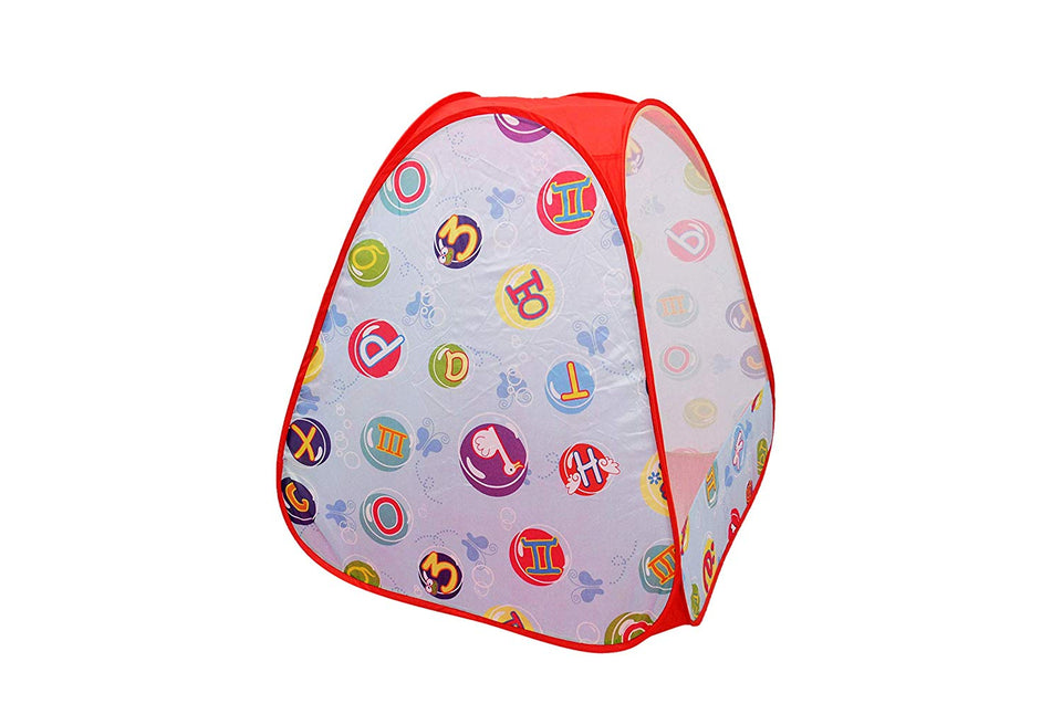 Toyshine Foldable Kids Children's Ball Pit Indoor Outdoor Pop Up Play Tent House Toy Printed Blue