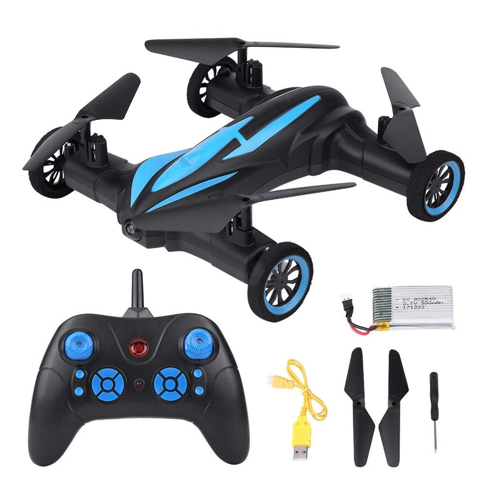 Toyshine Car Drone 4 CH Remote Control Flying Car Toy Drone (Without Camera) Assorted Colour