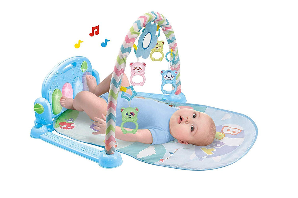Toyshine Baby's Playmat Gym with Toys, Made of Non Toxic Materials - Baby Blue
