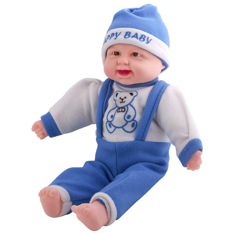 Toyshine 22 Inches Baby Musical and Laughing Boy Doll, Touch Sensors, Blue, Assorted Design