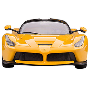 Toyshine 1:14 Super Remote Control Car, with Opening Doors and Lights, Yellow, TOYSHINE - 25
