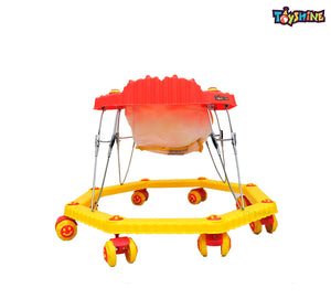 Toyshine 8 Bend Strong Walker with Music and Lights, Red