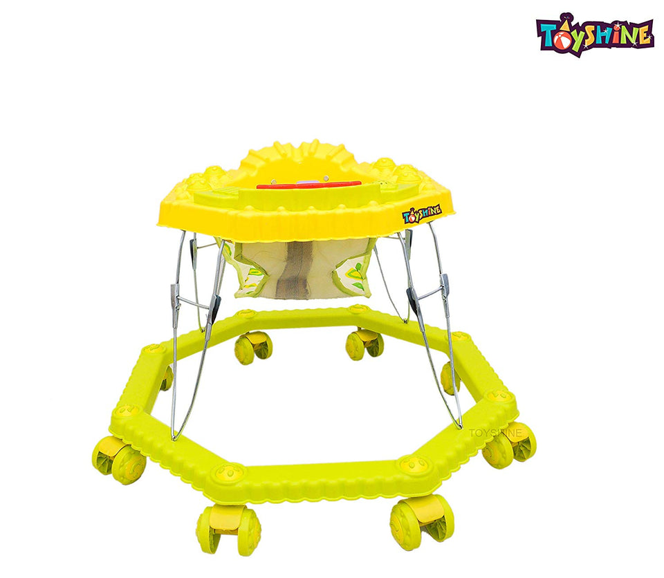 Toyshine 8 Bend Strong Walker with Music and Lights, Yellow