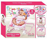 Toyshine Infant to Toddler Deluxe Baby Rocker Vibrating Chair, Pink
