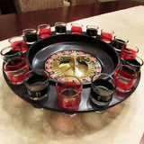Toyshine Shot Glass Roulette Drinking Game Set with Poker Chips in Tin Case