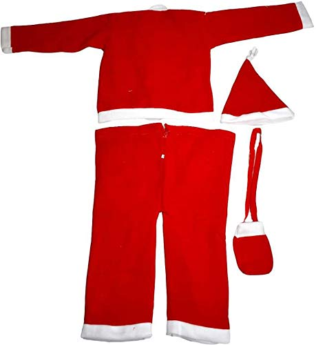 Toyshine Santa Claus Costume Christmas Dress for Kids Size 0 (0-6 Months)