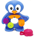 Toyshine Floating Fun Bath Toy Set - Includes a Penguin Waterfall Toy with a Water Scoop
