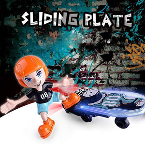 Toyshine Indoor & Outdoor Battery Operated Lights & Music Bump & Go Riding My Skateboard Toy