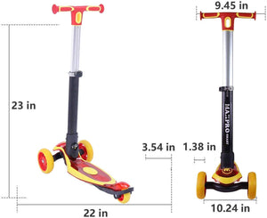 Toyshine Haxpro Smart 3 Wheels Heavy Duty Premium Scooter Runner for Kids, Yellow