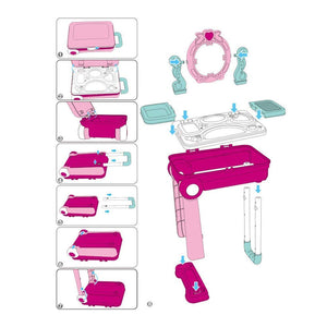 Toyshine Carry Along Dressing Set Toy with Briefcase with Accessories