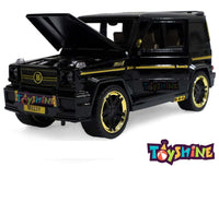 Toyshine 1:24 Metal Die Cast G Wagon, Opening Doors, Vehicle Toy Car, 8 Inches, Music and Lights, Black