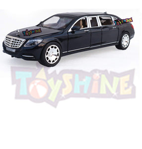Toyshine 1:24 Metal Die Cast Maybach, Opening Doors, Vehicle Toy Car, 8 Inches, Music and Lights, Black