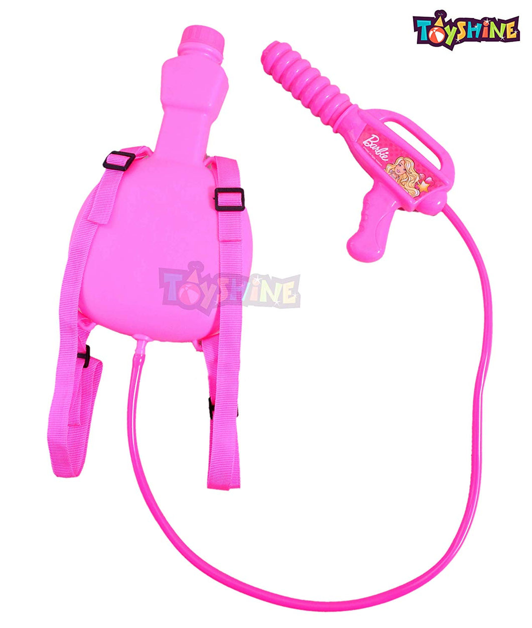 Toyshine Holi Water Gun with Pressure with Back Bottle Holding Tank (1.0L) - BFF Pink