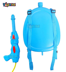 Toyshine Holi Water Gun with High Pressure, Back Holding Tank, 3.0 L, Doremon Oval Blue