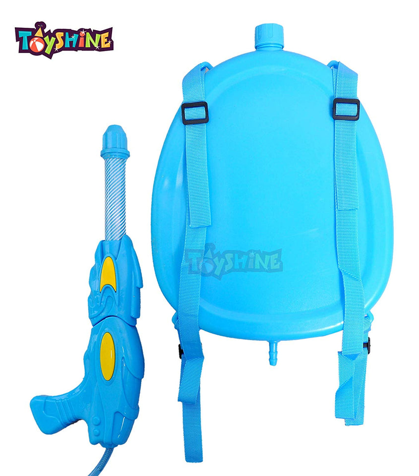 Toyshine Holi Water Gun with High Pressure, Back Holding Tank, 3.0 L, Mickey Blue