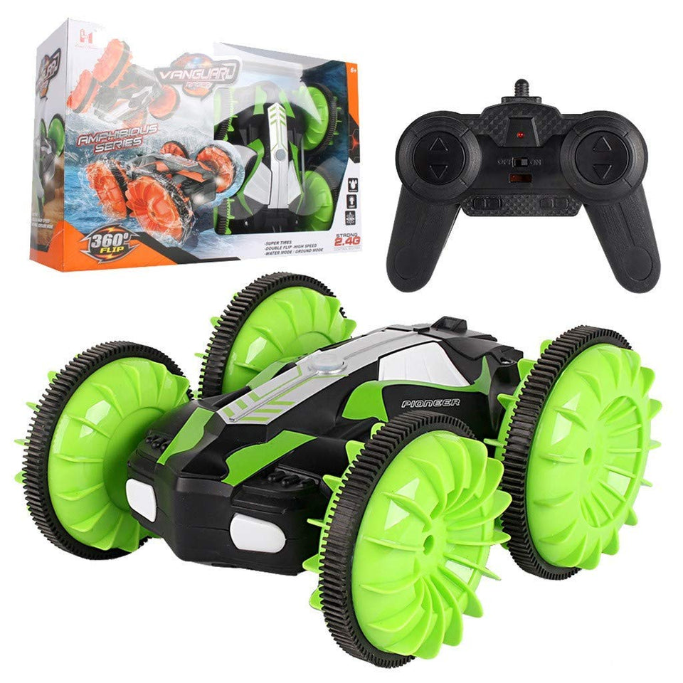Toyshine Car Toys for 5-12 Year Old Boys Amphibious Remote Control Car for Kids 2.4 GHz RC Stunt Car for Boys Girls 4WD Off Road Monster Truck ( Assorted colors )
